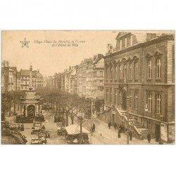 carte postale ancienne LIEGE. Place du Marché Perron et Hôtel de Ville