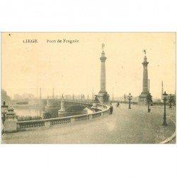 carte postale ancienne LIEGE. Pont de Fragnée