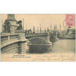 carte postale ancienne LIEGE. Pont de Fragnée 1905