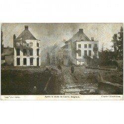 carte postale ancienne LIERRE. Après la chute 1915