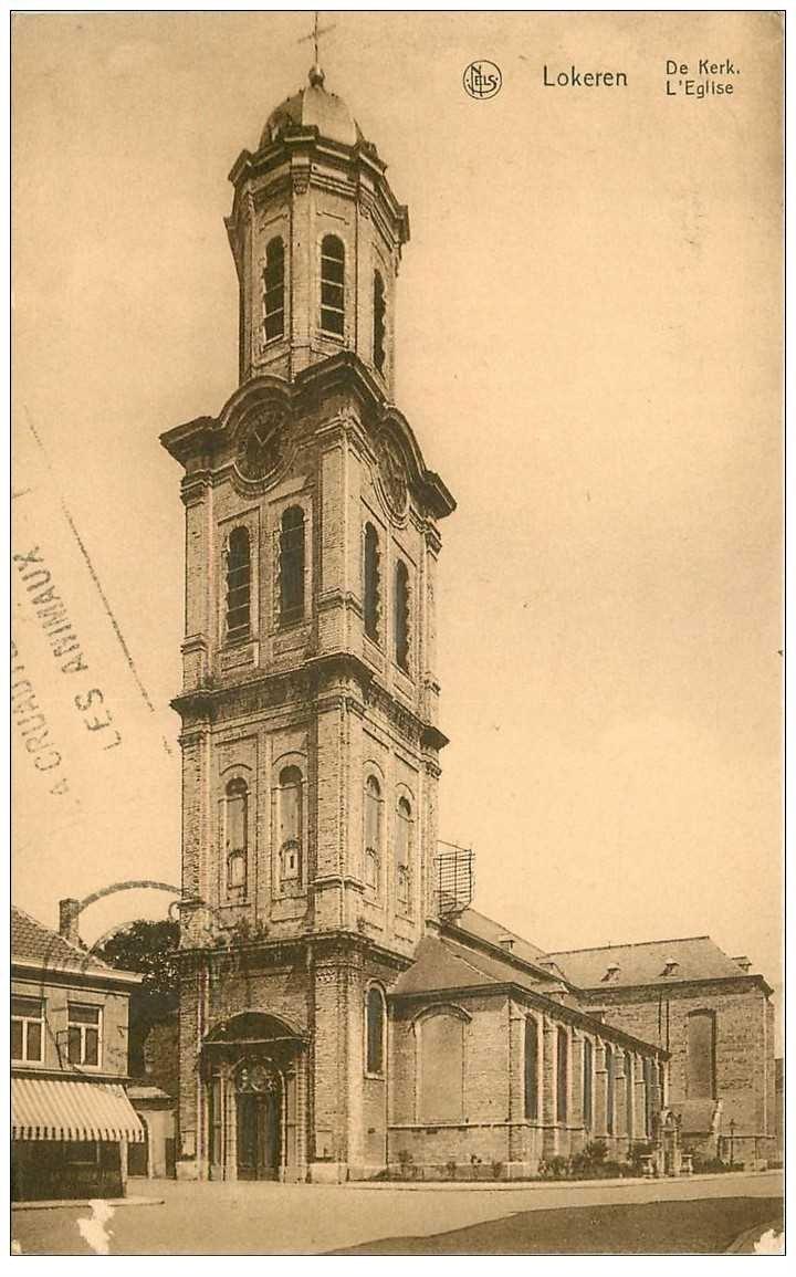 carte postale ancienne LOKEREN. L'Eglise