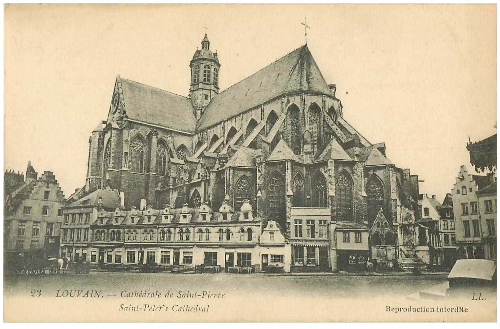carte postale ancienne LOUVAIN LEUVEN. Cathédrale Saint Pierre