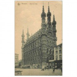 carte postale ancienne LOUVAIN LEUVEN. Hôtel de Ville