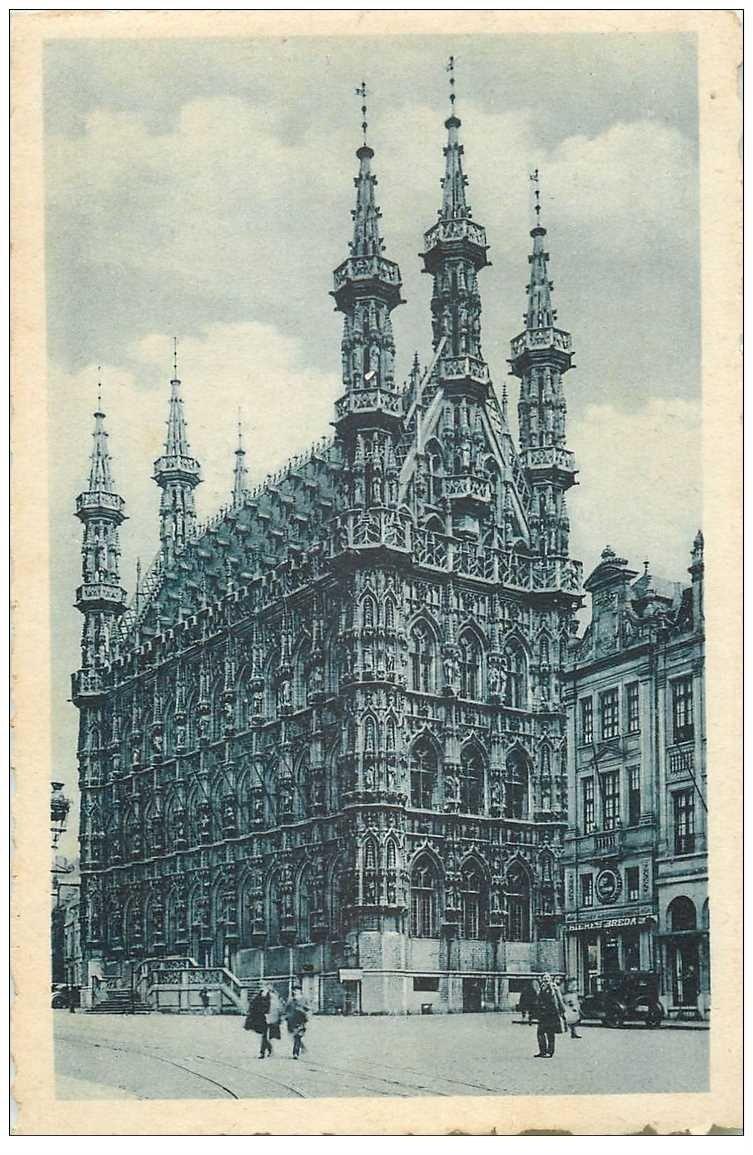 carte postale ancienne LOUVAIN LEUVEN. Hôtel de Ville 1935 bords dentelés