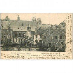 carte postale ancienne LOUVAIN. 1899 La Gilde des Métiers et Négoces 1899