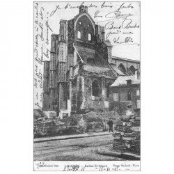 carte postale ancienne LOUVAIN. Eglise Saint Pierre 1915