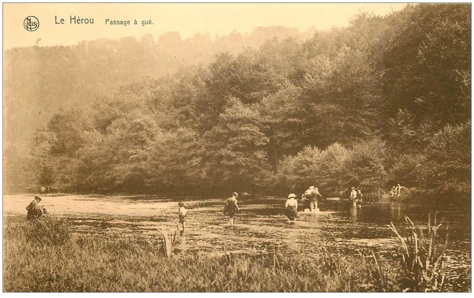 carte postale ancienne LUXEMBOURG. Le Hérou Passage à Gué