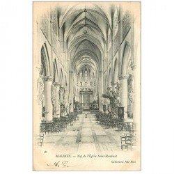 carte postale ancienne MALINES. Nef Eglise Saint Rombaut vers 1905