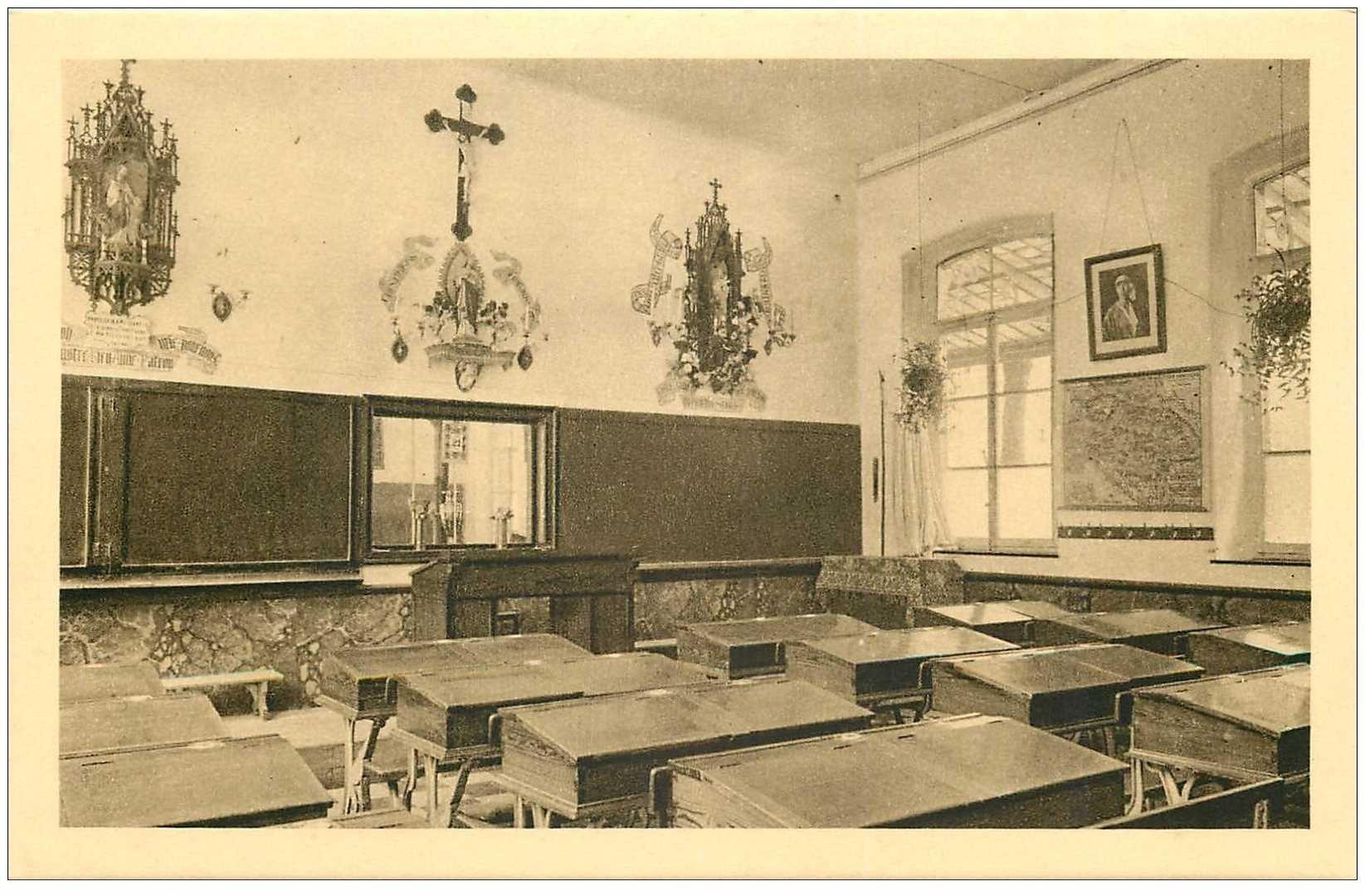 carte postale ancienne MALONNE. Institut Saint Berthuin une Classe