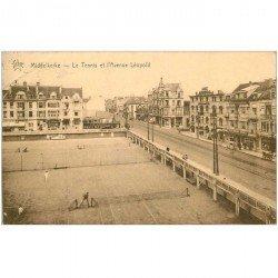 carte postale ancienne MIDDELKERKE. Tennis Avenue Léopold 1934