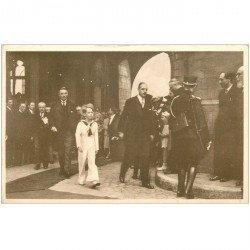 carte postale ancienne MONS. Visite du Prince Baudouin en 1939