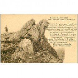carte postale ancienne NONCEVEUX. Les Roches Crahay avec personnage