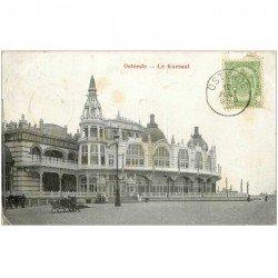 carte postale ancienne OSTENDE OOSTENDE. Kursaal avec T et timbre Taxe 1906