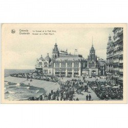 carte postale ancienne OSTENDE OOSTENDE. Kursaal et Petit Nice 1934