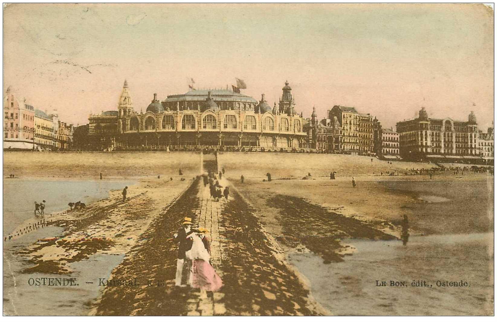 carte postale ancienne OSTENDE OOSTENDE. Kursaal vers 1900...