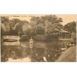 carte postale ancienne OSTENDE OOSTENDE. Le Parc