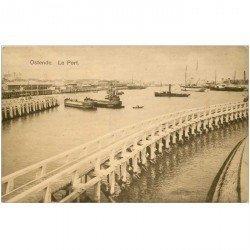 carte postale ancienne OSTENDE OOSTENDE. Le Port