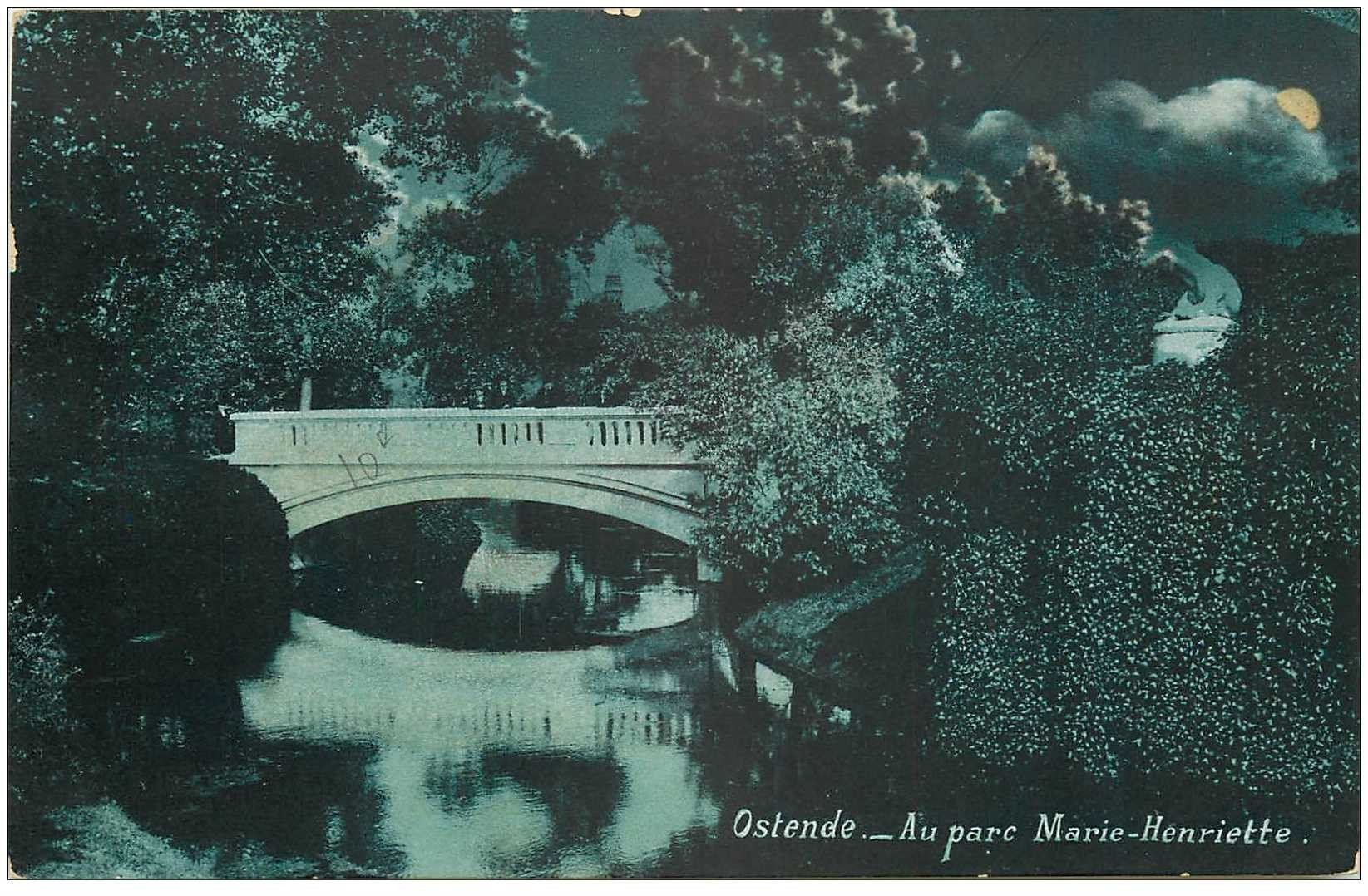 carte postale ancienne OSTENDE OOSTENDE. Parc Marie Antoinette