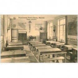 carte postale ancienne PENSIONNAT NOTRE DAME MARCHE. Classe Primaire 1911