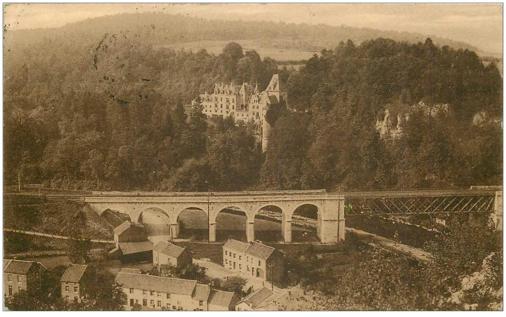carte postale ancienne REMOUCHAMPS. Chteau Montjardin et Arcades 1931