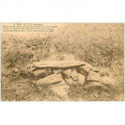 carte postale ancienne SPA. Banc construit par l'ex Kaiser en 1918. Timbre manquant