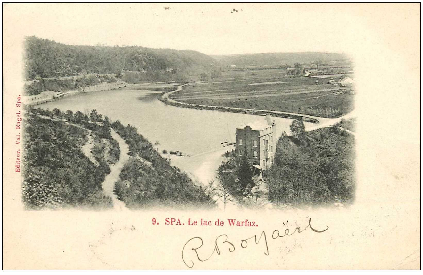 carte postale ancienne SPA. Lac de Warfaz 1902