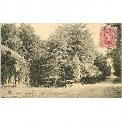 carte postale ancienne SPA. Restaurant de la Sauvenière Promenade des Fontaines 1920