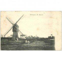 carte postale ancienne VERVIERS. Le Moulin à Vent 1904 petite plissure
