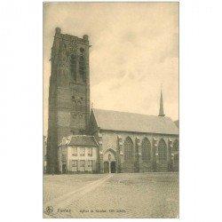 carte postale ancienne VEURNE FURNES. Eglise Saint Nicolas 1915