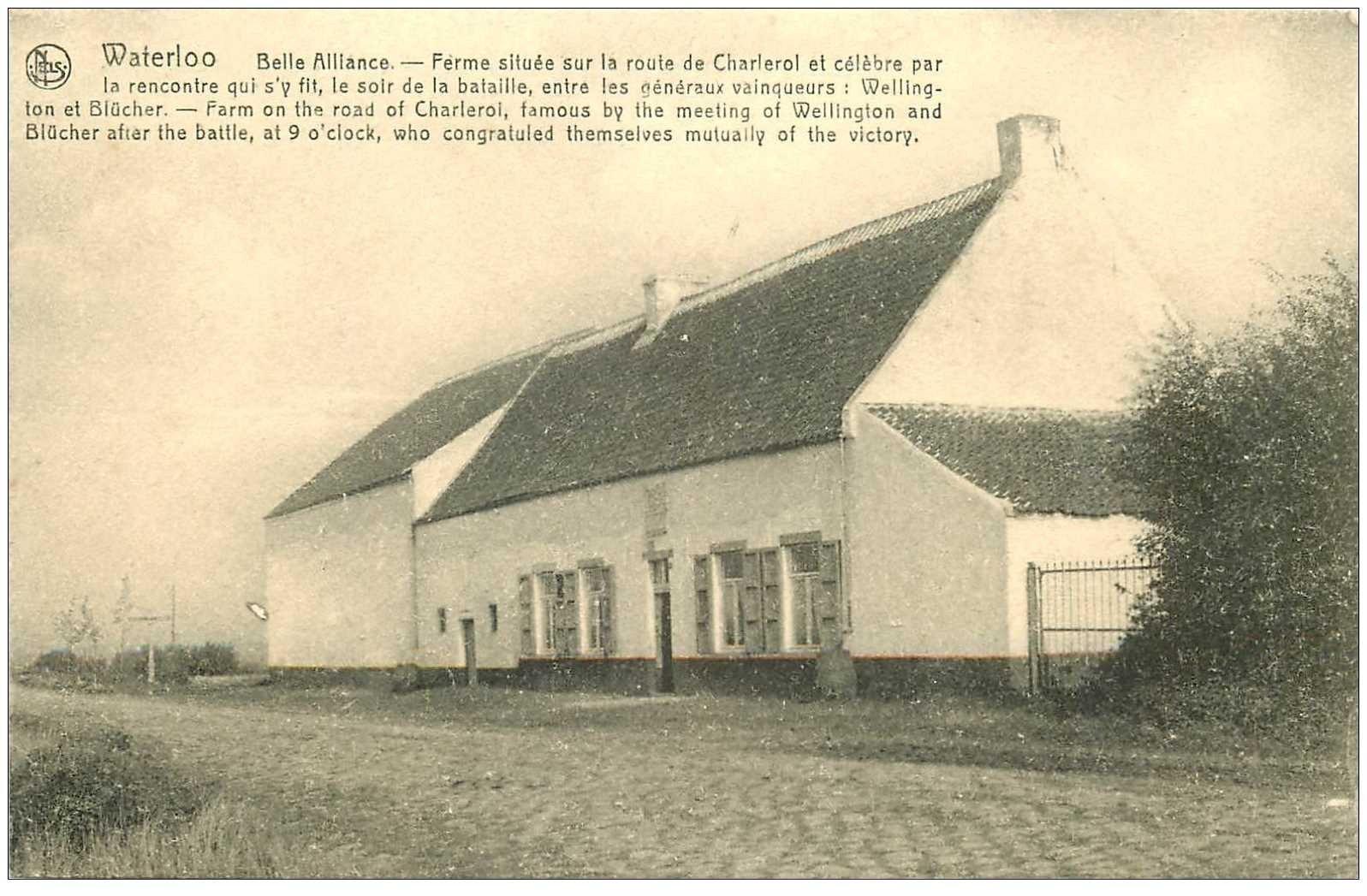 carte postale ancienne WATERLOO. Belle Alliance Ferme Route de Charleroi