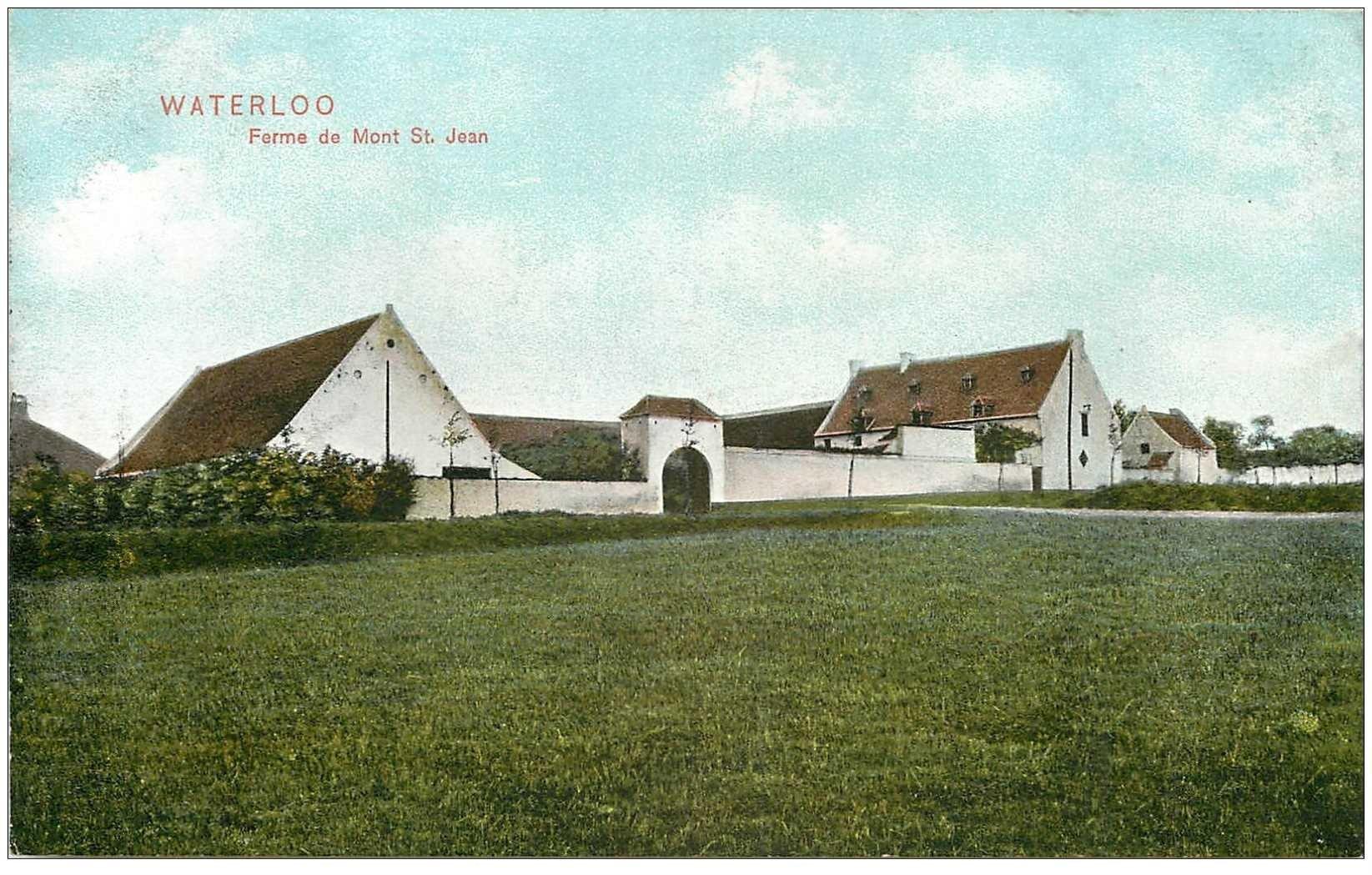 carte postale ancienne WATERLOO. Ferme du Mont Saint Jean