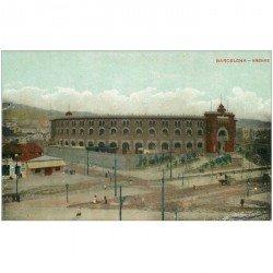 carte postale ancienne BARCELONA. Arenas
