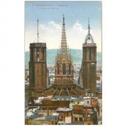 carte postale ancienne BARCELONA. Catedral 1928