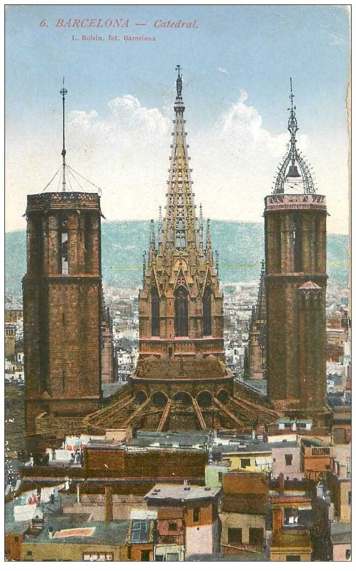 carte postale ancienne BARCELONA. Catedral 1928