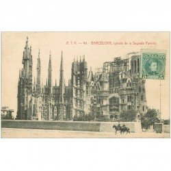 carte postale ancienne BARCELONA. Iglesia de la Sagrada Familia 1909