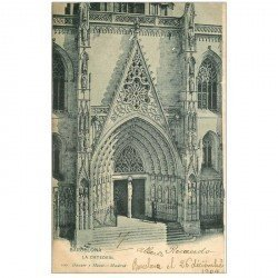carte postale ancienne BARCELONA. La Catedral 1904