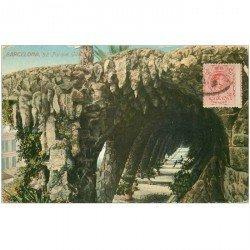 carte postale ancienne BARCELONA. Parque Güell 1912