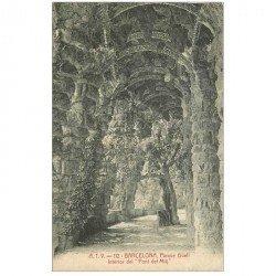 carte postale ancienne BARCELONA. Parque Güell. Pont del Mitj 1908