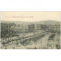 carte postale ancienne BARCELONA. Plaza de Cataluna