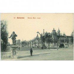 carte postale ancienne BARCELONA. Salon San Juan