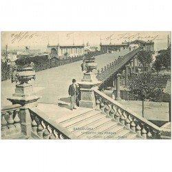 carte postale ancienne BARCELONA. Viaduc del Parque 1906