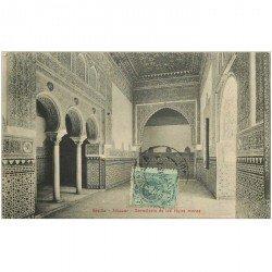 carte postale ancienne Espagne. ALCAZAR. Dormitorio de los reyes moros 1913 Sevilla