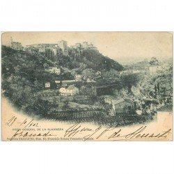 carte postale ancienne Espagne. ALHAMBRA. Vista general 1902