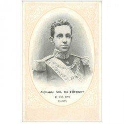 carte postale ancienne ESPAGNE. Alphonse XIII Roi d'Espagne le 29 Mai 1905 à Paris