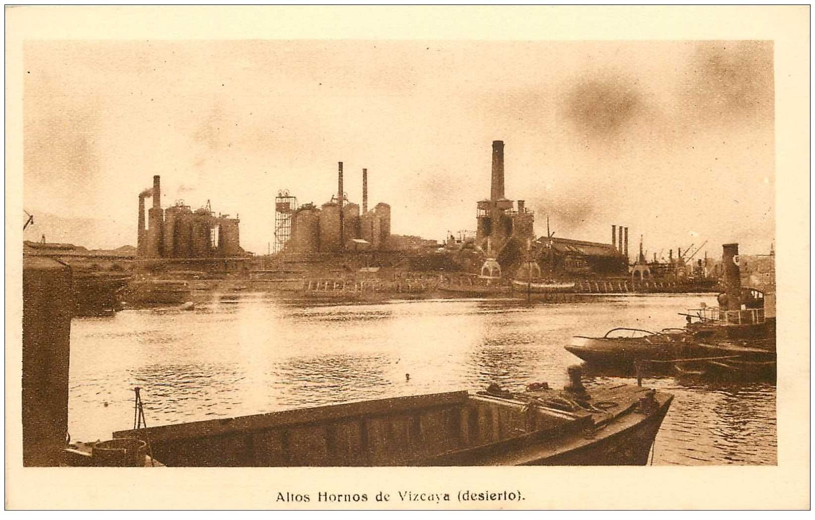 carte postale ancienne Espagne. Altos Hornos de Vizcaya desierto