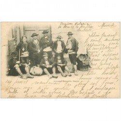 carte postale ancienne ESPAGNE. Aragon. Costumes Espagnols 1901