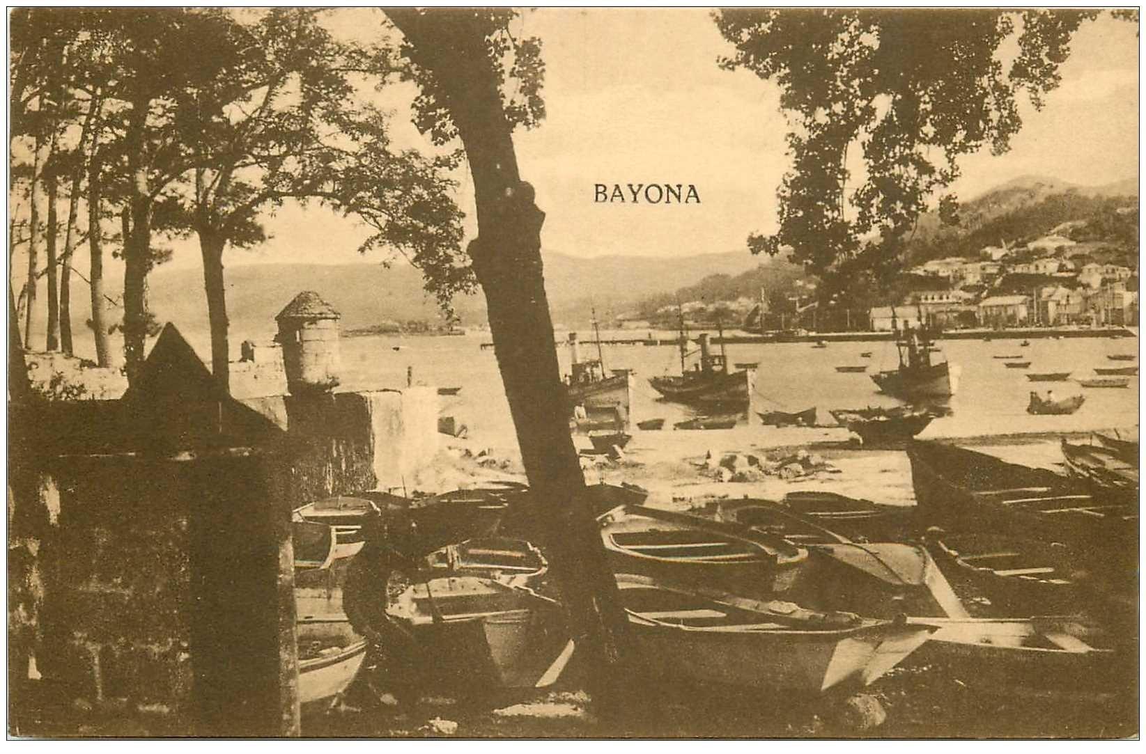 carte postale ancienne Espagne. BAYONA