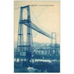 carte postale ancienne Espagne. BILBAO. Gran Puente Vizcaya