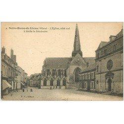 carte postale ancienne 02 NOTRE-DAME-DE-LIESSE. L'Eglise et Séminaire