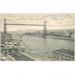 carte postale ancienne ESPAGNE. Bilbao. Puente Vizcaya 1904